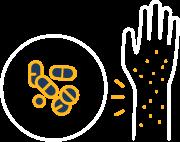 Icon: Лекарствена алергия, алергия от лекарства